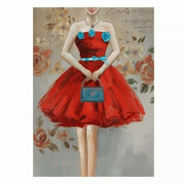"""Πίνακας """"Κόκκινο φόρεμα"""""""