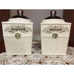 Βάζα για καφέ και ζάχαρη