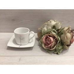 Φλυτζάνια του καφέ Kyoto silver by Cryspo Trio