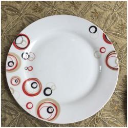 """Πιάτο  """"Κύκλοι"""" ρηχό"""