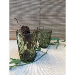 Ποτήρια σωλήνα πράσινα  Kare by Cryspo Trio